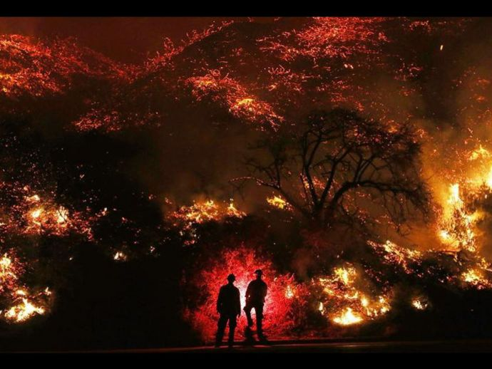 California, Wildfire, Thomas, Forestfire, Third largest fire, Cedar Fire, San Diego