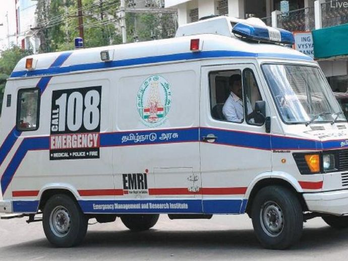 Ambulance, Mistake, Nungambakkam, central Chennai, Nungambakkam, Businessman, Mithil, Palavakkam, South Chennai