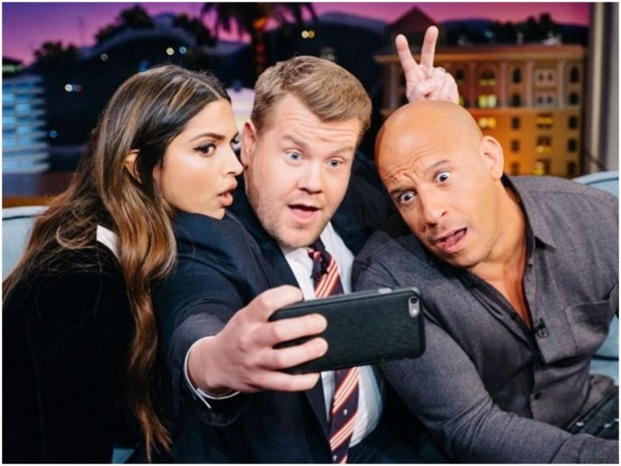 Deepika Padukone, Vin Diesel, James Corden, the Late Late Show, xXx: Return of Xander Cage, Lungi Dance