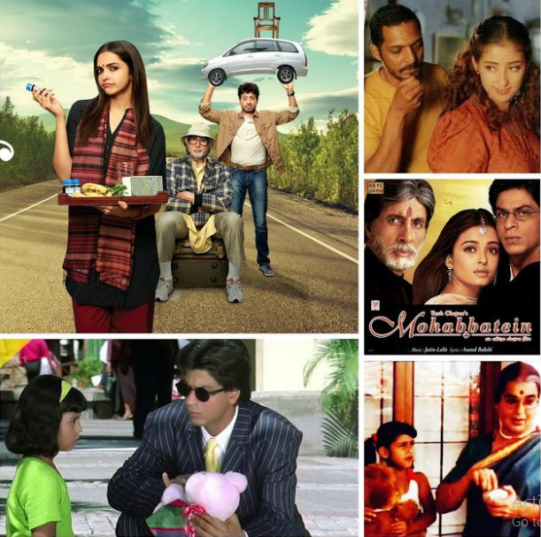 Bollywood Fathers, Typical Fathers In Bollywood, Bollywood Movie Fathers, Bollywood Movies With Fathers, Shakti, Patiala House, Wake Up Sid, Udaan, Paa, Apne, Mohabbatein, Kuch Kuch Hota Hai, Kya Kehna, Yeh Jawani Hai Deewani, Kabhi Khushi Kabhi Gham, Bag