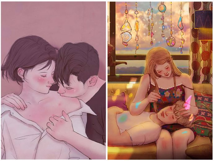 Hyocheon Jeong, South Korean artist, Illustation, Love