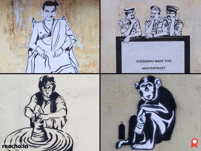 guess who, indian banksy, kerala, graffiti, street art, national anthem