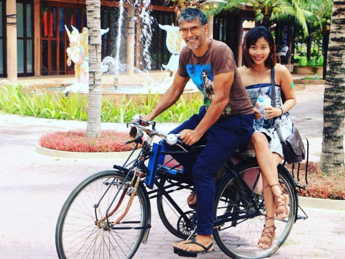 Milind Soman, Ankita Konwar, Milind's Girlfriend, Old Spice, Made in India