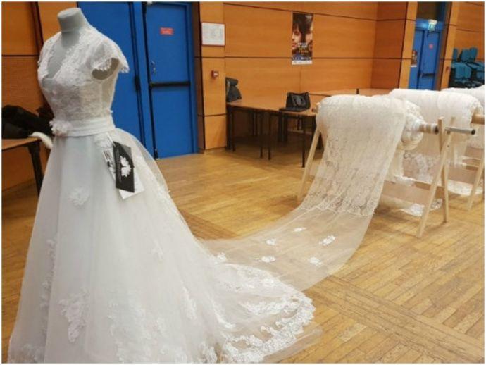 wedding, wedding gown, train, longest train, Guinness Records