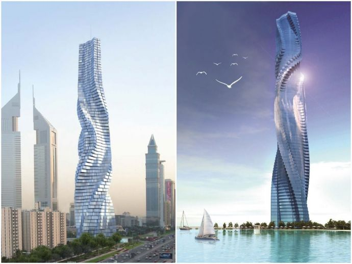 architecture, Dubai, skyscraper, UAE, New york, London, Miami, Rome, Milan, Moscow, dynamic tower hotel, Dubai's new skyscraper, Dynamic Architecture, Dynamic Tower Dubai, David Fisher architect