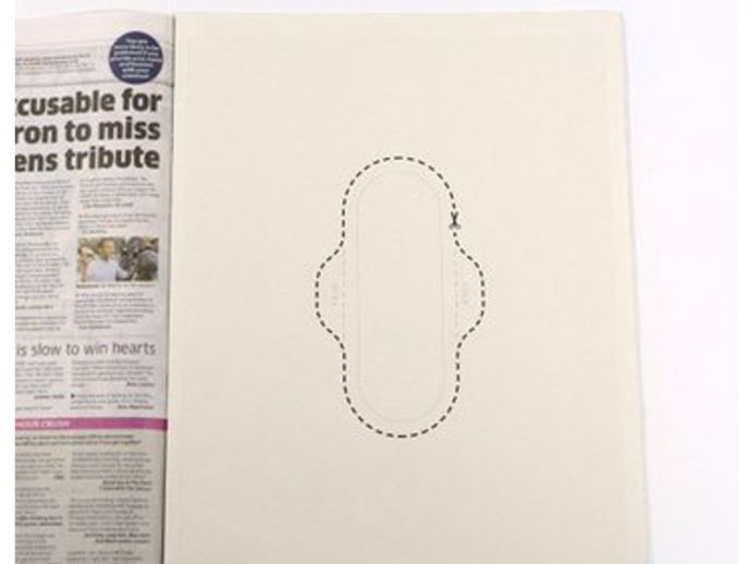 Hey Girls, Celia Hodson, Taboo, Periods, Mensuration, Cut-Out Sanitary Pad, Unique advertisements, Britain's Newspaper, Thomson Reuters Foundation, Make your sanitary pad, Periods talk, Open talk on mensuration, Out of the world newspaper ad
