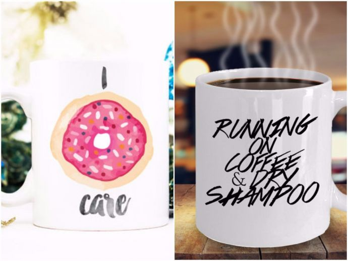 Mugs, Sassy mugs, Not a morning person, Running on coffee