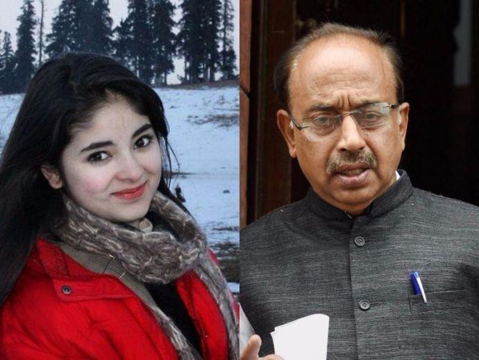 Dangal, Zaira Wasim, Vijay Goel, Twitter, hijab, minister, mehbooba mufti, aamir khan
