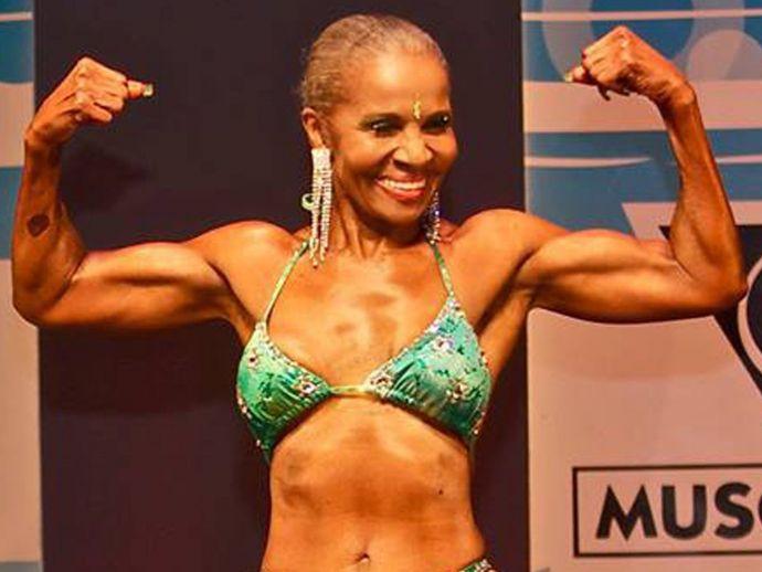 Granny Six-Pack, World's Oldest, bodybuilder, Ernestine-Shepherd, gym, body, genius book of world record, World's Oldest Body Builder, Ernestine Shepherd, Oldest Female Body Builder, Oldest Body Builder