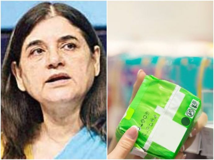 maneka gandhi, union minister, women and child development minister, gst, goods and services tax, sanitary napkins, GST on pads, 12%, women's hygiene, policy, tax