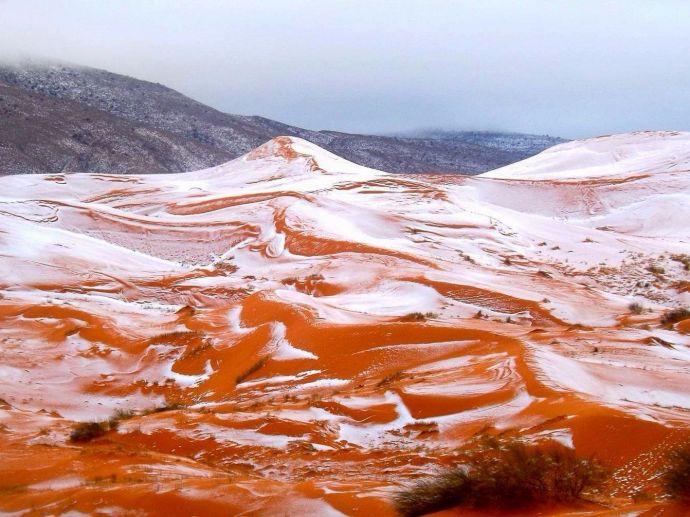 Sahara Desert, Snowfall, Desert Snowfall, Global Warming