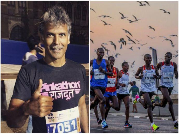 Mumbai Marathon, 2018, Tata Mumbai Marathon, Milind Soman, Tara Sharma, Kunal Kapoor, Mandira Bedi, Athletes