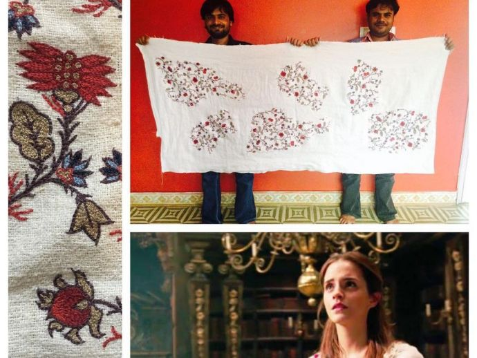 Sinéad O'Sullivan, Aari work, indian craft, gujarat, bhuj, beauty and the beast, belle, emma watson, instagram