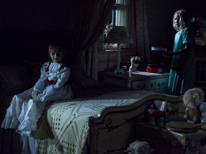 Annabelle: Creation, Annabelle, The Conjuring, Brazil, Miranda Otto, Anthony LaPaglia, Patrick Wilson, Vera Farmiga, woman, punch, scream, effects