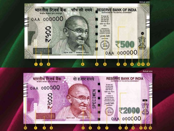 Rupee, ban, currency, india, Demonetization, 2000 Rs.