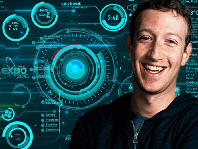 Mark Zuckerberg, JARVIS, Morgan Freeman, Facebook, Iron Man