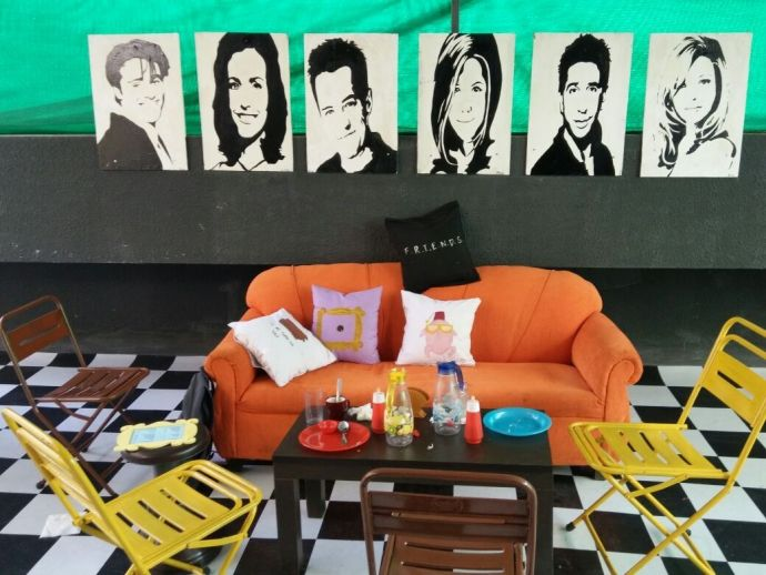 Pune, Central Perk, Friends, tv, series, Pune's Central Perk, Central Perk In Pune, Orange Sofa In Pune