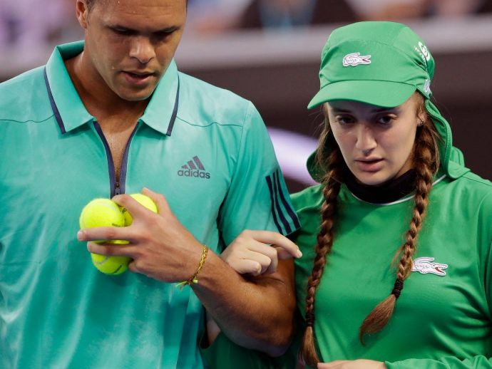 French, tennis, Jo-Wilfred Tsonga, ball girl, australian open
