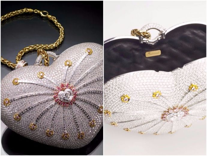 World's Most Expensive Purse, purse, 1001 Nights Diamond Purse, Hermès Birkin bag, Mouawad, bag