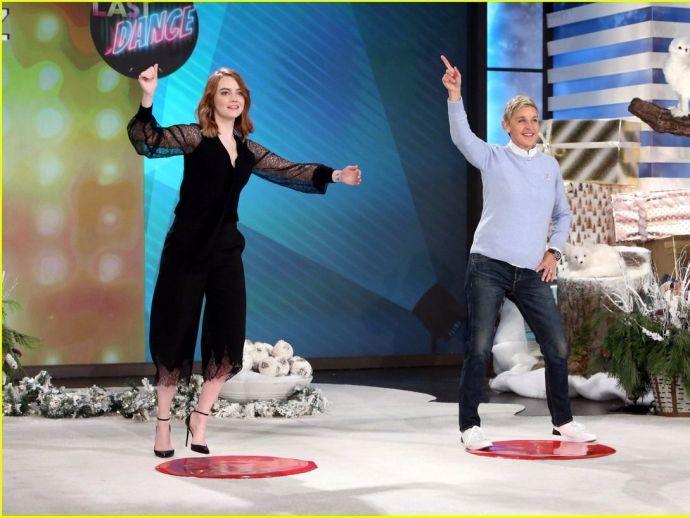Emma Stone, Ellen DeGeneres, Ryan Gosling, La La Land, Dance