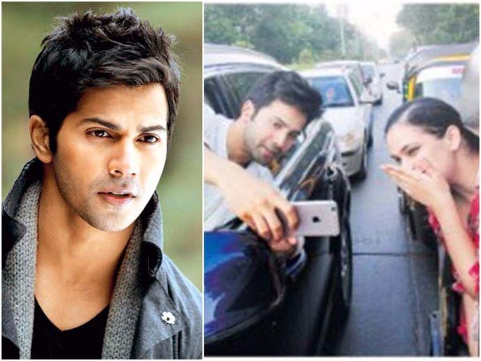Varun Dhawan, mumbai, mumbai police, Apologies, car selfie, fan