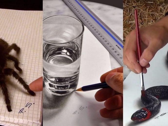 3D Painting, Stefan Pabst, Speed Art, Life-Like Art, Life-Like Painting, Life-Like Drawing, Drawing, Painting, Artist