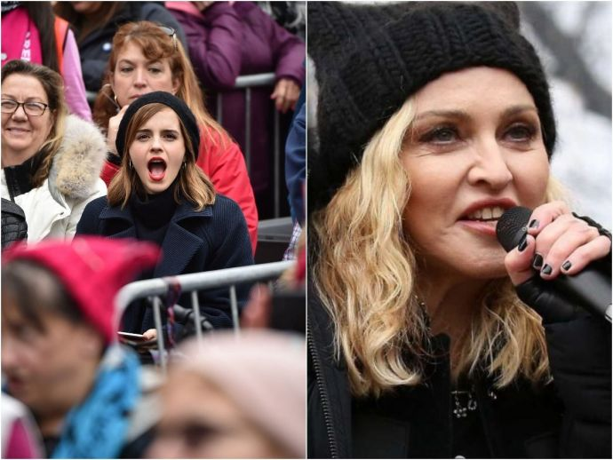 #womensmarch, emma  watson, madonna, donald trump, washington, priyanka chopra, miley cyrus
