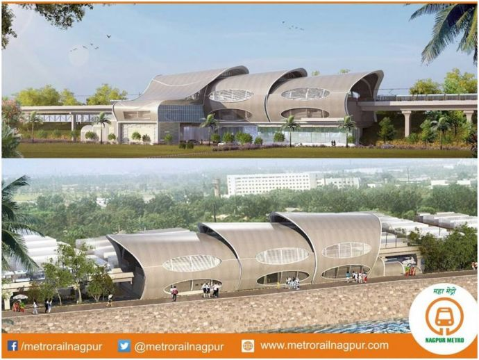 Nagpur, metro, rail, railway, ambazari lake, dharampeth, dharampeth college, aqua, station