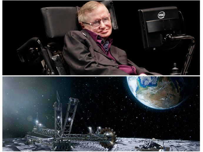 Stephen Hawking, elevate humanity, lunar space, moon, mars, outer space, Earth, Life on Mars, Life on moon, Claims Of Stephen Hawking, Stephen Hawking Theories