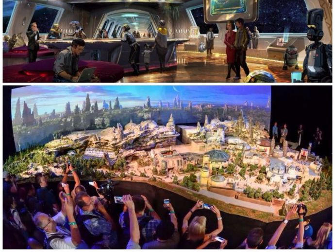 park, theme, land, Walt Disney, Star Wars, project, venture, spaceship