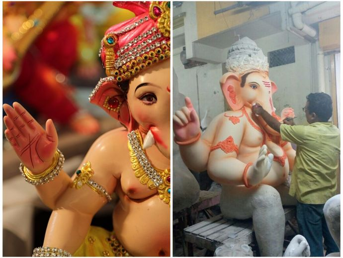 Chitar Oli, Nagpur, Ganpati, Ganpati shop, statue, idol, clay, Ganesh Chaturthi, celebrations