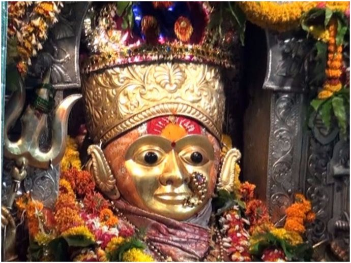 Nagpur, Koradi temple, Jagadamba, Navratri, History of the temple