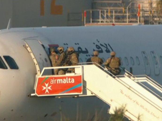 Libya, Hijack, plane, europe, malta, terrorists