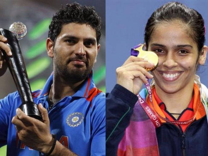 Yuvraj singh, saina nehwal, cricket, badminton, twitter, sportsmanship