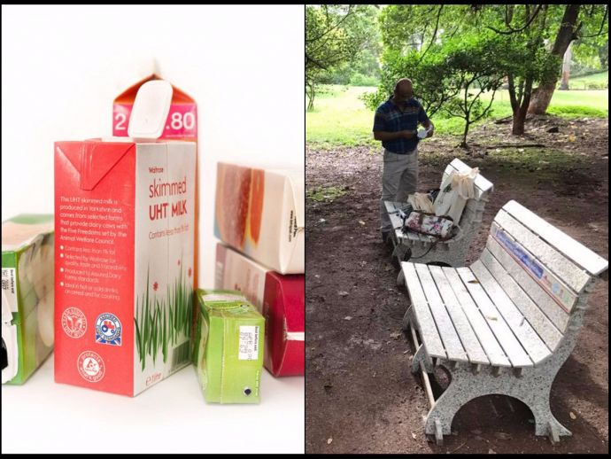 Tetra Pak cartons, Eco-friendly benches, Bombay Port Trust's, RUR Greenlife