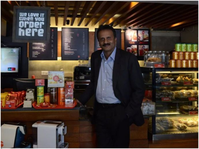 Cafe Coffee Day, CCD, IT raid, V.G. Siddhartha, Minister S.M. Krishna, 650 crore