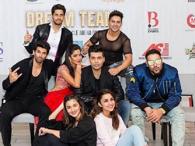 Alia Bhatt, Parineeti Chopra, Katrina Kaif, Varun Dhawan, Aditya Roy Kapoor, Sidharth Malhotra, Karan Johar, rapper Badshah, Badshah