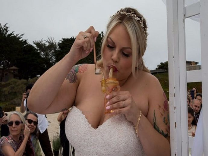 weed, wedding, California, marijuana, pot, vape, dab, puff, zak walton, dani geen, cannabis