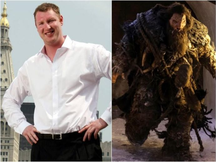Game of Thrones, Neil Fingleton, UK, Avengers, X Men, Doctor Who, Italy, China, Greece, Spain