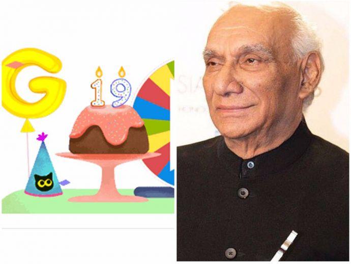 Google, Doodle, Yash Chopra, Birthday, 27th Sept, Dil toh pagal hai, Silsila