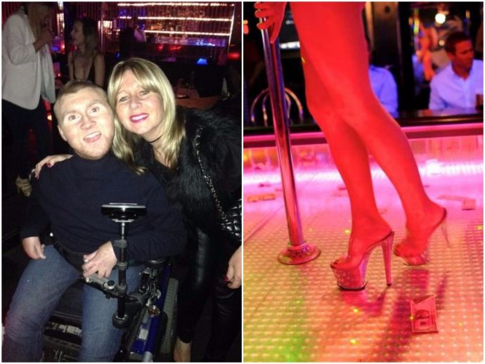 Harry Butler, Hammersmith, UK, strip, club, DMD, illness, incurable, disease, wheelchair, bucket list, staff, team, Tottenham