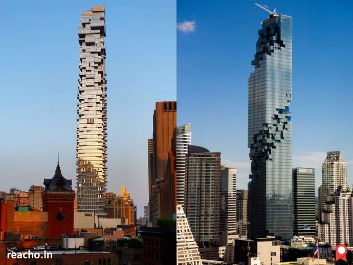 Graphics To Corporeal, Jenga Tower, Buildings In 2016, Best Buildings In 2016, Cascading Campus, Serpentine Pavilion, Domed Louvre, Mahanakhon Tower, Crystalline Port, Radical Forested Tower