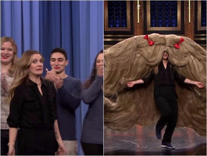 Drew Barrymore, Guinness World Records, Jimmy Fallon, The Tonight Show