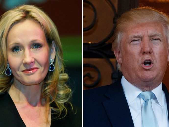 donald trump, j k Rowling, twitter, harry potter, slytherin, J.K. Rowling Tweets Trump, What Did J.K. Rowling Say About Trump