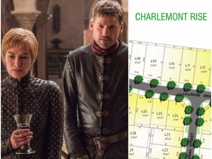 Australia, Victoria, street, Game of Thrones, character, incest, couple, siblings, cersei, jaime, tyrion, charlemont rise, geelong