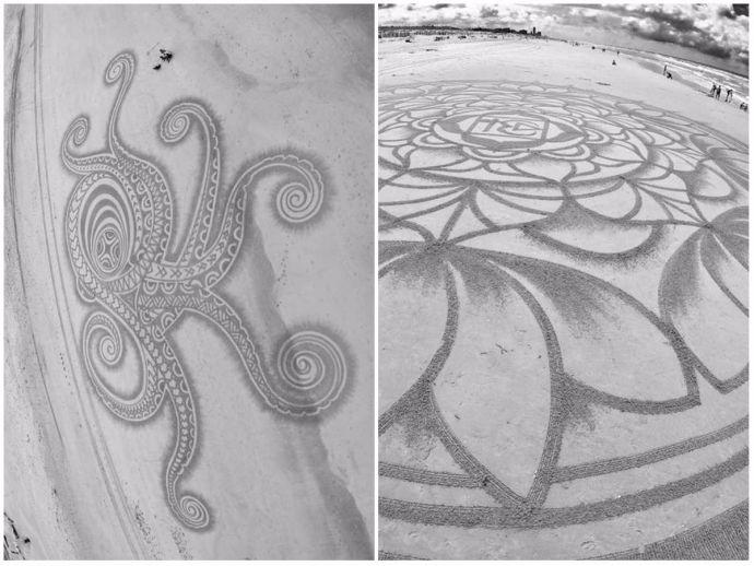 Tim Hoekstra, Dutch beach art, Sand artist, extraordinary art, sand art, beach art