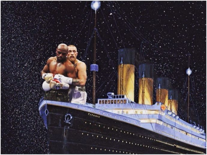 Floyd Mayweather, Conor McGregor, UFC, MMA, Bellator, fight of the century, boxing, Twitter, tweets, reactions, funny, memes, titanic, twilight, hug, spooning