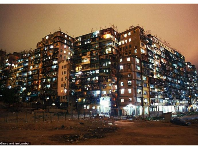 Kowloon Walled City, Hong Kong, Greg Girard, Canadian photographer, most populated place, history, vintage, great britain