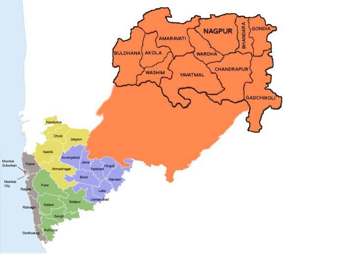 nagpur, vidarbha, mumbai, pune, maharashtra, telangana, andhra pradesh, politics, statehood, poverty, development, history