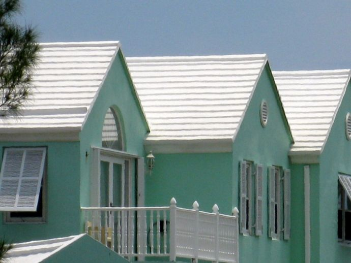 Bermuda, White Stepped Roofs, White Roofs, Stepped Roofs